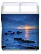 Boulder Point Sunrise Duvet Cover