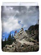 Bouldering On The Flint Creek Trail - Weminuche Wilderness Duvet Cover
