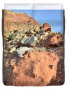 Boulders Above Camprground Duvet Cover