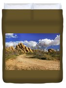 Boulders At Apple Valley Duvet Cover