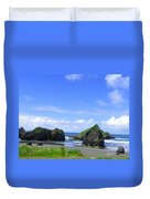 Boulders In Oregon Duvet Cover