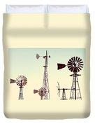 Bountiful Windmills Duvet Cover