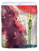 Bouquet Abstract 1 Duvet Cover
