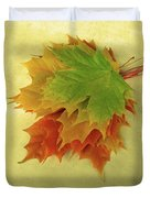 Bouquet De Feuilles / Bunch Of Leaves Duvet Cover