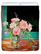 Bouquet De Roses - Marrakech Duvet Cover