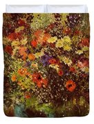Bouquet In Front Of A Mirror 1877 Duvet Cover