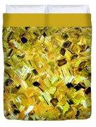 Bouquet In Gold Duvet Cover