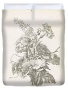 Bouquet Of Different Flowers, Jacques Bailly I, Ca. 1670 , Duvet Cover