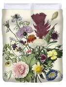 Bouquet Of Flowers, Anonymous, 1680 Duvet Cover