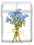 Bouquet Of Forget-me-nots Duvet Cover