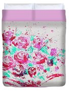 Bouquet Of Pink Roses Duvet Cover