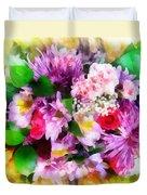 Bouquet Of Purple Duvet Cover