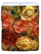 Bouquet Of Roses In A Vase 1900 Duvet Cover