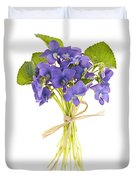 Bouquet Of Violets Duvet Cover by Elena Elisseeva
