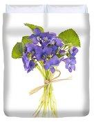 Bouquet Of Violets Duvet Cover by Elena Elisseeva