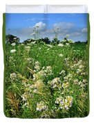 Bouquet Of Wildflowers Along Country Road In Mchenry County Duvet Cover