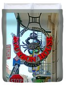 Bourbon House Signage Duvet Cover