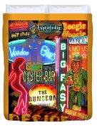 Bourbon Street Neon Duvet Cover