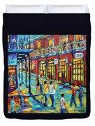 Bourbon Street New Orleans By Prankearts Duvet Cover