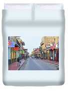 Bourbon Street - New Orleans Louisianna Duvet Cover