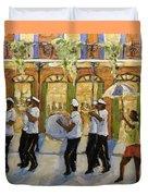 Bourbon Street Second Line New Orleans Duvet Cover