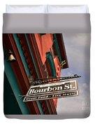 Bourbon Street Sign Duvet Cover