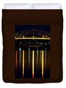 Bourne Bridge At Night Cape Cod Duvet Cover by Matt Suess