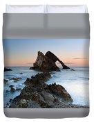 Bow Fiddle Rock At Sunset Duvet Cover