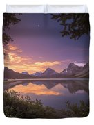 Bow Lake At Dawn Duvet Cover