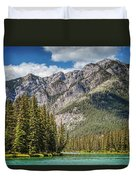 Bow River Banff Alberta Duvet Cover