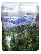 Bow River Valley In The Canadian Rockies Duvet Cover