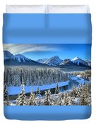 Bow River Valley View Duvet Cover