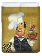 Bow Tie Chef Four Bowl Duvet Cover