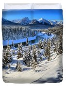 Bow Valley Mountains Duvet Cover