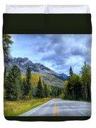 Bow Valley Parkway Banff National Park Alberta Canada Vi Duvet Cover