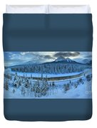 Bow Valley River Giant Panorama Duvet Cover