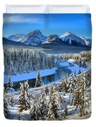 Bow Valley Winter View Duvet Cover
