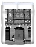 Bowery Mission Duvet Cover