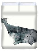 Bowhead Whale From Whales Chart Duvet Cover