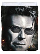 Bowie With Glasses Duvet Cover