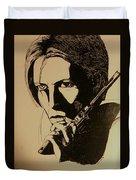 Bowie's Got A Gun Duvet Cover