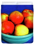 Bowl Of Apples Duvet Cover