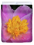 Bowl Of Beauty Peony Catching The Rain Duvet Cover
