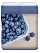Bowl Of Fresh Blueberries Duvet Cover