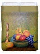 Bowl Of Fruit Duvet Cover