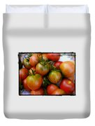 Bowl Of Heirloom Tomatoes Duvet Cover