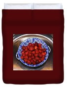 Bowl Of Strawberries 1 Duvet Cover by Douglas Barnett