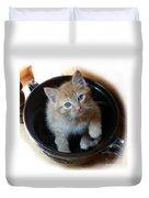 Bowlful Of Kitten Duvet Cover