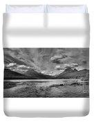 Bowman Lake Black And White Panoramic Duvet Cover