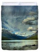 Bowman Lake Montana Duvet Cover
